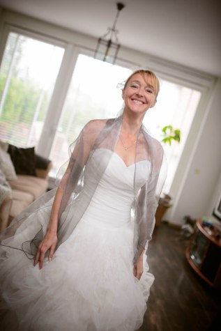 The bride prepares.